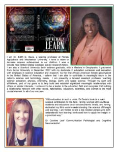 How we really learn book promo info, Dr. Edith G. Davis